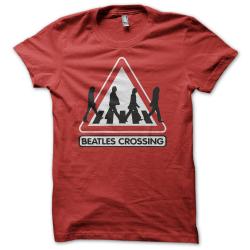 Tee-shirt original rigolo Beatles crossing