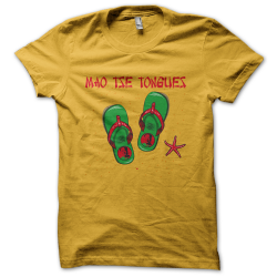 Tee-shirt original rigolo Mao Tse Tongues