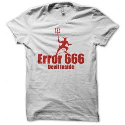 Tee-shirt original rigolo Erreur 666