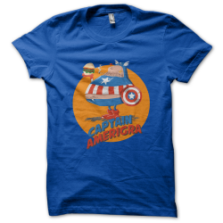 Tee-shirt original rigolo Captain Amerigra