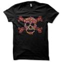 Tee-shirt original rigolo Floral skull