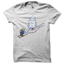 Tee-shirt original rigolo traces de ski